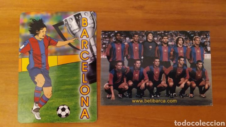 LOTE 2 CALENDARIOS DEL FC BARCELONA (Coleccionismo Deportivo - Material Deportivo - Fútbol)