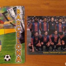 Coleccionismo deportivo: LOTE 2 CALENDARIOS DEL FC BARCELONA. Lote 197790240
