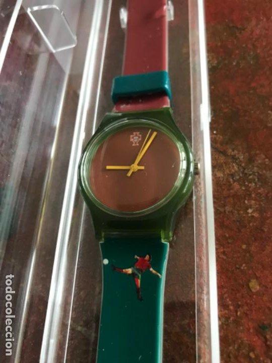 Coleccionismo deportivo: Reloj Oficial Federación Portuguesa de Fútbol. Sin estrenar - Foto 3 - 197905956