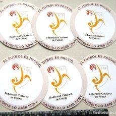 Coleccionismo deportivo: LOTE 6 PEGATINAS FEDERACION CATALANA FUTBOL STICKETS ADHESIVE BARCELONA CATALUNYA LOGO. Lote 198315296