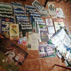 Coleccionismo deportivo: LOTE REAL MADRID ALMANAQUE 1988 Y 1989 FOTOGRAFIAS, AZULEJOS POSTERS REVISTAS ETC VER FOTOS. Lote 198386625
