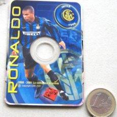 Coleccionismo deportivo: CD ROM RONALDO NAZARIO OFFICIAL INTER MILAN MILANO 6X9 CM 2000-01 LA COLLEZCIONE IN AZIONE CMC. Lote 198409306