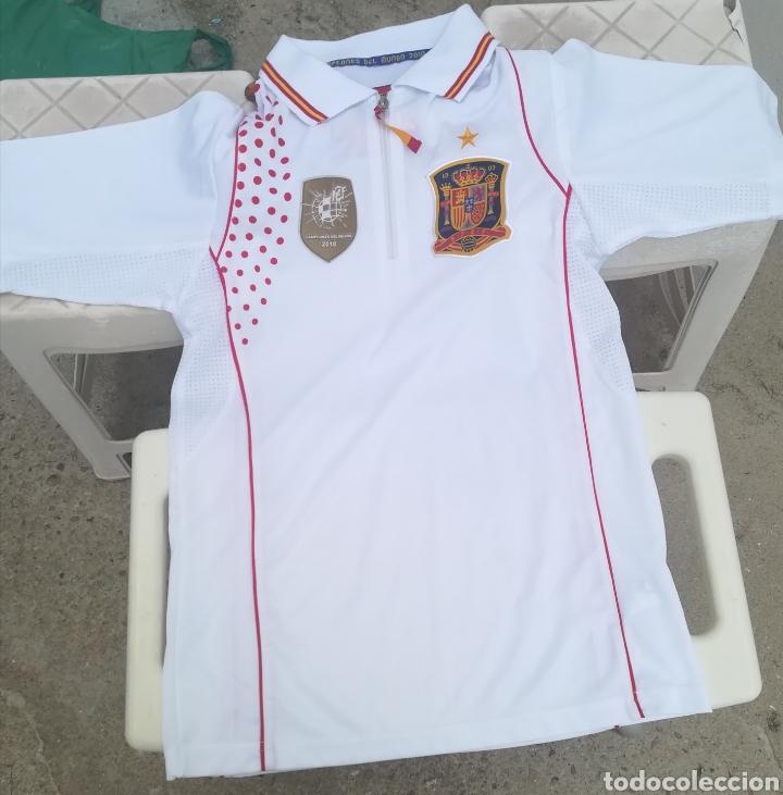Coleccionismo deportivo: Comiseta oficial Campeonato del mundo de Fútbol 2010 España campeón - Foto 2 - 198642913