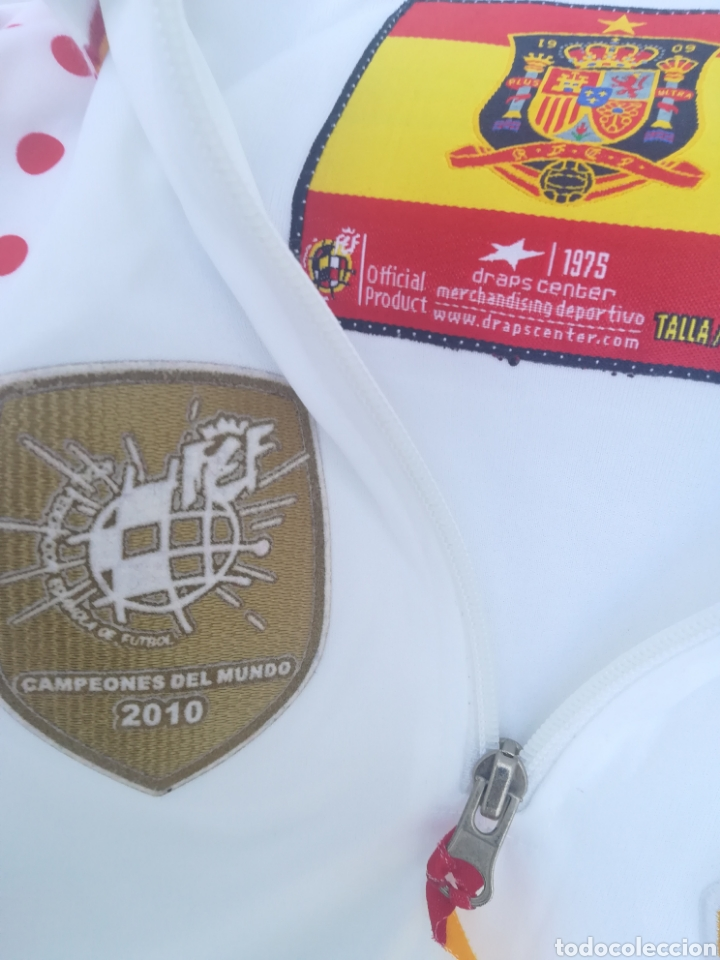 Coleccionismo deportivo: Comiseta oficial Campeonato del mundo de Fútbol 2010 España campeón - Foto 3 - 198642913