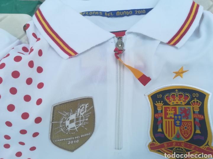 Coleccionismo deportivo: Comiseta oficial Campeonato del mundo de Fútbol 2010 España campeón - Foto 4 - 198642913