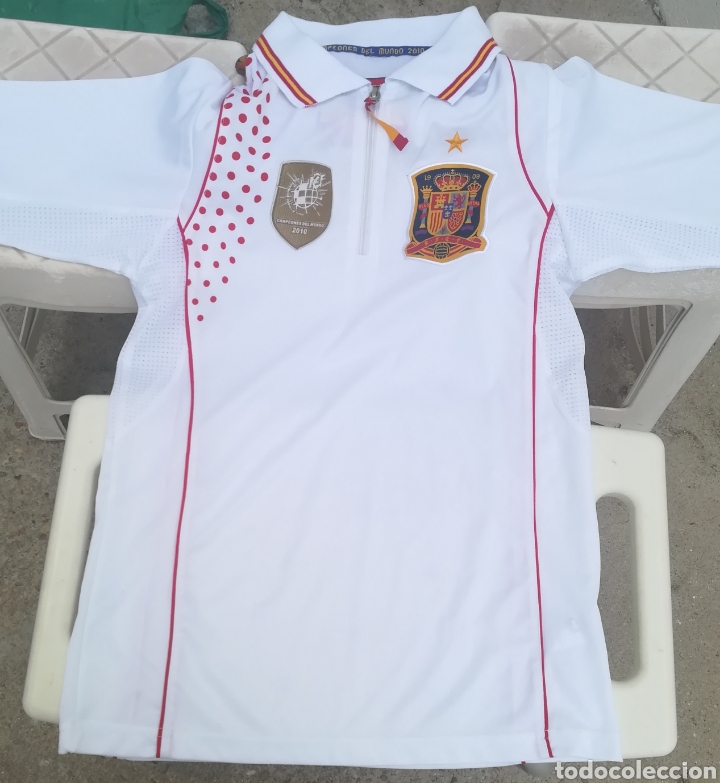 Coleccionismo deportivo: Comiseta oficial Campeonato del mundo de Fútbol 2010 España campeón - Foto 6 - 198642913