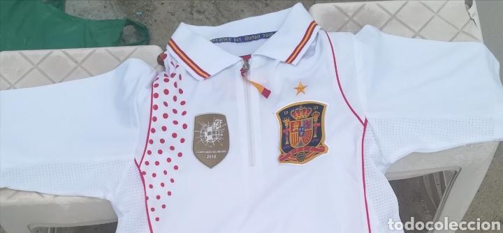 Coleccionismo deportivo: Comiseta oficial Campeonato del mundo de Fútbol 2010 España campeón - Foto 10 - 198642913