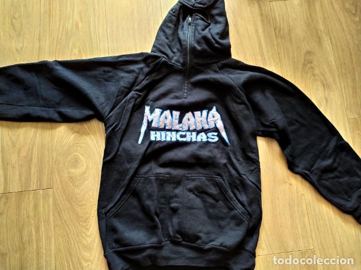 SUDADERA JERSEY ULTRAS MALAKA HINCHAS MALAGA FUTBOL FRENTE BOKERON HOOLIGANS TALLA XL (Coleccionismo Deportivo - Material Deportivo - Fútbol)
