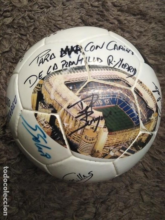 BALÓN FIRMADO REAL MADRID (Coleccionismo Deportivo - Material Deportivo - Fútbol)
