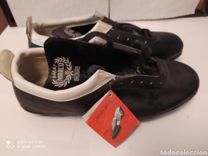 Coleccionismo deportivo: Botas fútbol vintage Marca MARCO años 80 , talla 35-36 sin usar - Foto 3 - 200131370
