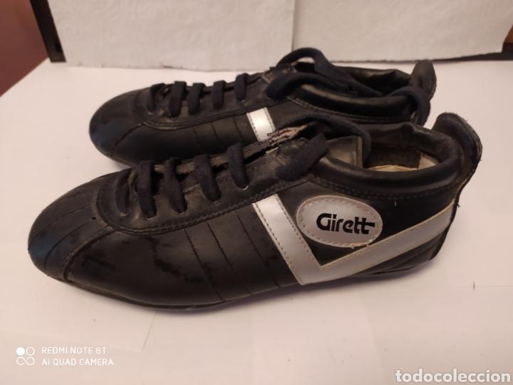 Coleccionismo deportivo: Botas fútbol vintage marca GIRETT, talla 32 original años 80 sin usar - Foto 3 - 200132260