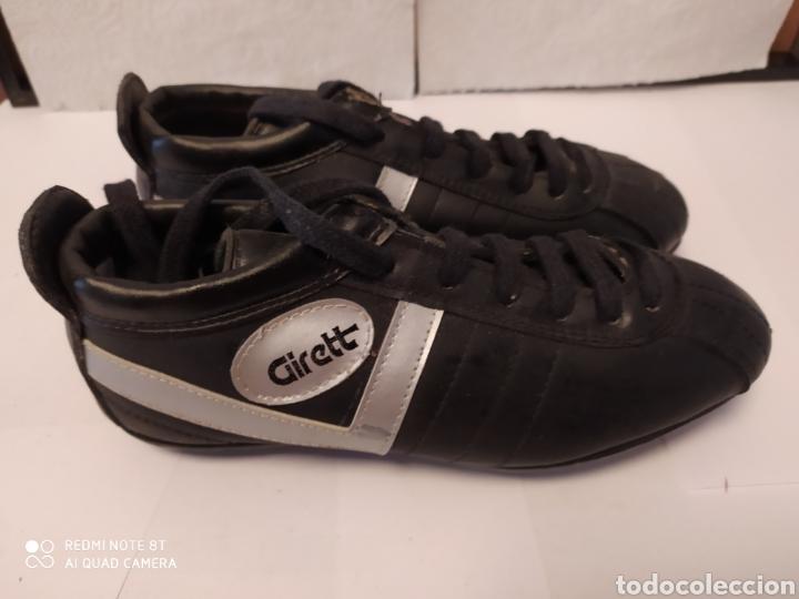 Coleccionismo deportivo: Botas fútbol vintage marca GIRETT, talla 32 original años 80 sin usar - Foto 6 - 200132260
