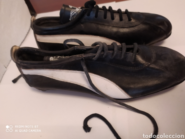 Coleccionismo deportivo: Botas fútbol vintage marca PIÑOL, años 80 talla 33-34 - Foto 2 - 200132836