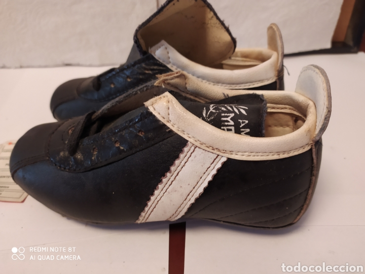 Coleccionismo deportivo: Botas fútbol vintage marca MARCÓ, talla 8 años 80 sin usar - Foto 6 - 200134243