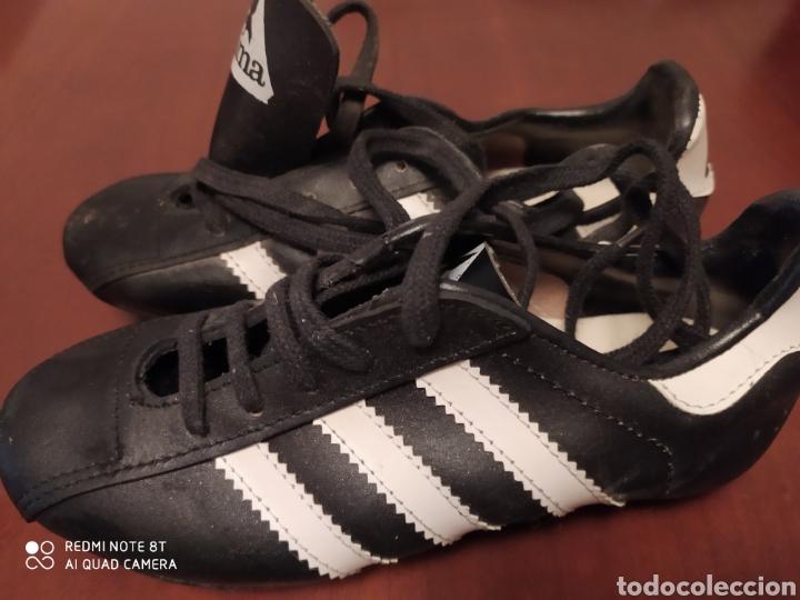 Coleccionismo deportivo: Botas de fútbol vintage marca JOMA, talla 32 originales años 80 sin usar - Foto 3 - 200334271