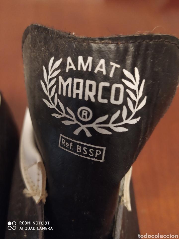Coleccionismo deportivo: Botas fútbol vintage marcó, talla 35 originales años 80 sin usar - Foto 2 - 200337331