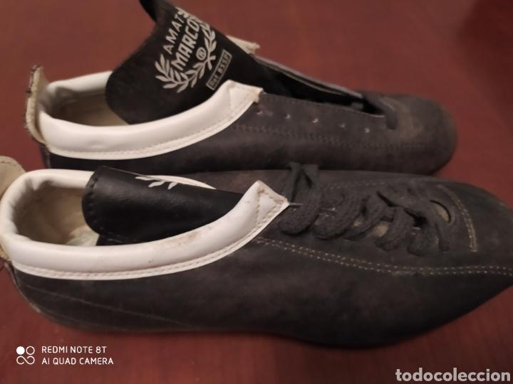 Coleccionismo deportivo: Botas fútbol vintage marcó, talla 35 originales años 80 sin usar - Foto 3 - 200337331