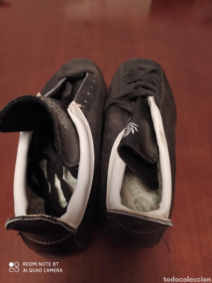 Coleccionismo deportivo: Botas fútbol vintage marcó, talla 35 originales años 80 sin usar - Foto 4 - 200337331