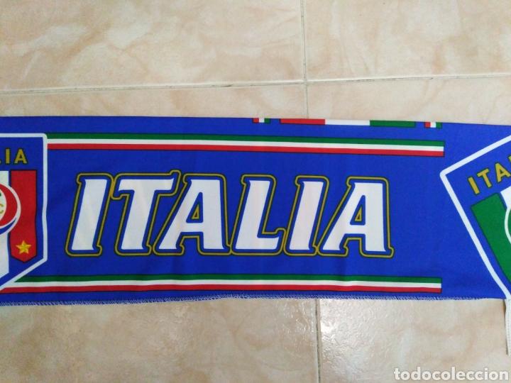 Coleccionismo deportivo: Bufanda Italia ( 18 X 132 ) - Foto 4 - 201129890