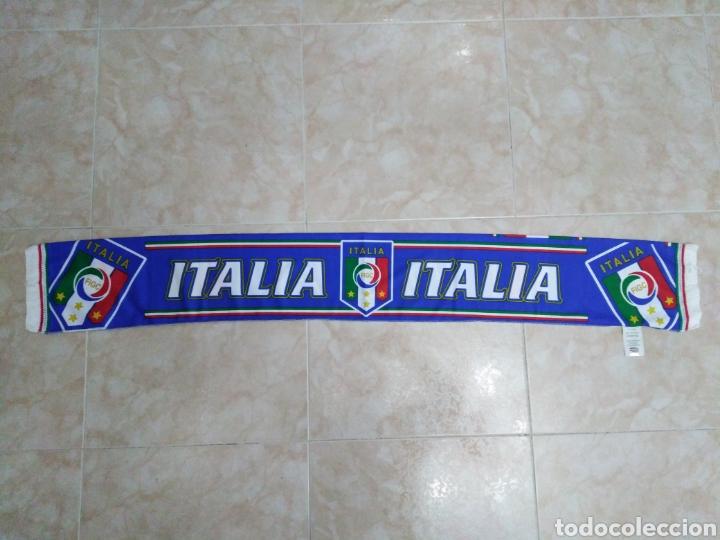 BUFANDA ITALIA ( 18 X 132 ) (Coleccionismo Deportivo - Material Deportivo - Fútbol)