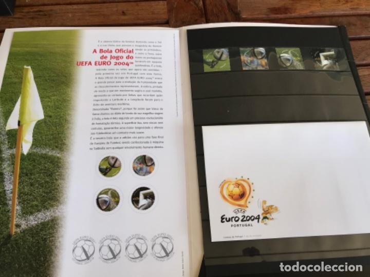 ROTEIRO ADIDAS MATCH BALL OFFICIAL STAMPS. CTT CORREIOS. UEFA EURO 2004. LAUNCHING KIT (Coleccionismo Deportivo - Material Deportivo - Fútbol)