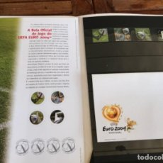 Coleccionismo deportivo: ROTEIRO ADIDAS MATCH BALL OFFICIAL STAMPS. CTT CORREIOS. UEFA EURO 2004. LAUNCHING KIT. Lote 203111490