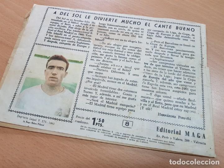 Coleccionismo deportivo: REVISTA JUVENIL FUTBOL OLIMAN AS DEL DEPORTE MAGA N. 8 DEL SOL REAL MADRID 1961 - Foto 2 - 204803591