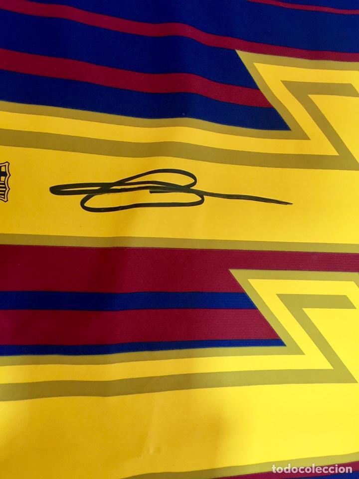Coleccionismo deportivo: Camiseta FC Barcelona 2017-18 firmada por Dembele con COA - Foto 2 - 205740830