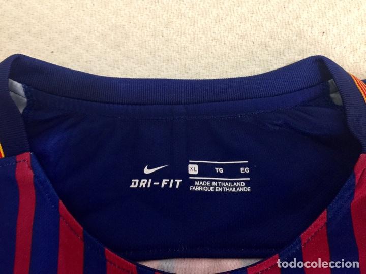 Coleccionismo deportivo: Camiseta FC Barcelona 2017-18 firmada por Dembele con COA - Foto 4 - 205740830