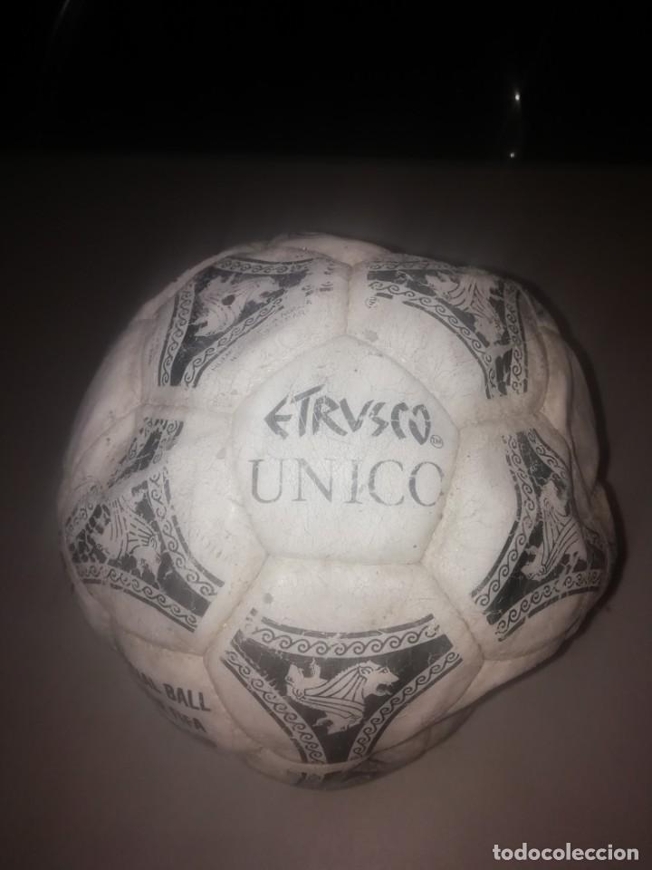BALÓN DE FÚTBOL. OFFICIAL BALL ADIDAS ETRUSCO ÚNICO 1990 (Coleccionismo Deportivo - Material Deportivo - Fútbol)