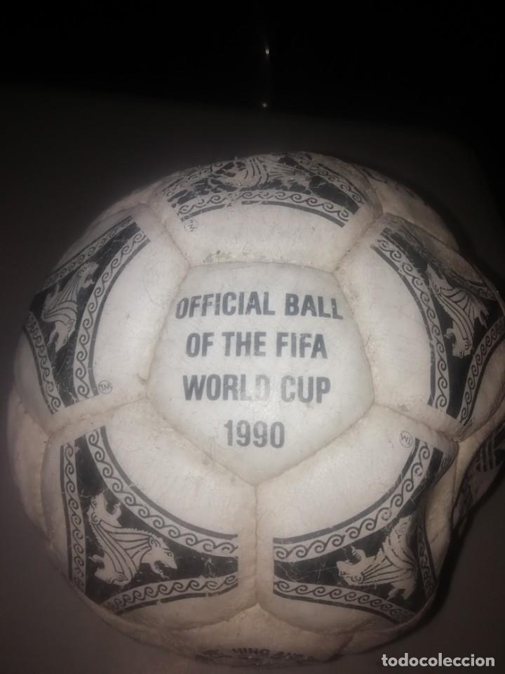Coleccionismo deportivo: Balón de fútbol. Official Ball Adidas Etrusco Único 1990 - Foto 2 - 206187145