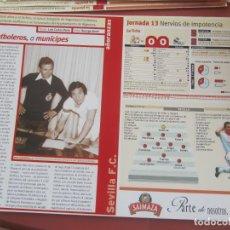 Coleccionismo deportivo: SEVILLA F. C. - AÑORANZAS - FICHA JORNADA 13 - SEVILLA F.C. -MÁLAGA - TEMPORADA 1999-2000.. Lote 206199956