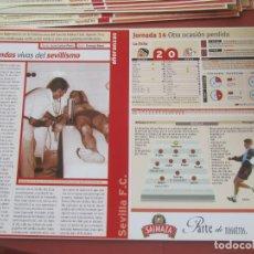 Coleccionismo deportivo: SEVILLA F. C. - AÑORANZAS - FICHA JORNADA 14 - VALENCIA-SEVILLA F.C. - TEMPORADA 1999-2000.. Lote 206201795