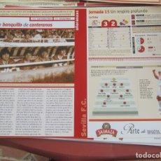 Coleccionismo deportivo: SEVILLA F. C. - AÑORANZAS - FICHA JORNADA 15 - SEVILLA F.C. -BARCELONA - TEMPORADA 1999-2000.. Lote 206202027