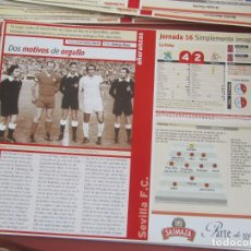 Coleccionismo deportivo: SEVILLA F. C. - AÑORANZAS - FICHA JORNADA 16 - OVIEDO-SEVILLA F.C. - TEMPORADA 1999-2000.. Lote 206202366