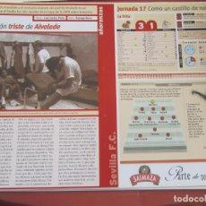 Coleccionismo deportivo: SEVILLA F. C. - AÑORANZAS - FICHA JORNADA 17 - MALLORCA-SEVILLA F.C. - TEMPORADA 1999-2000.. Lote 206202491