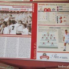 Coleccionismo deportivo: SEVILLA F. C. - AÑORANZAS - FICHA JORNADA 18 - SEVILLA F.C. -ATCO. DE MADR - TEMPORADA 1999-2000.. Lote 206202760