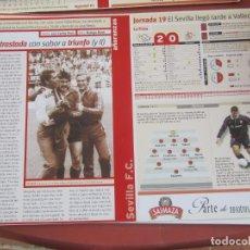 Coleccionismo deportivo: SEVILLA F. C. - AÑORANZAS - FICHA JORNADA 19 - RAYO VALLECANO - SEVILLA F.C. - TEMPORADA 1999-2000.. Lote 206202875