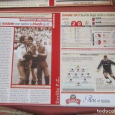 Coleccionismo deportivo: SEVILLA F. C. - AÑORANZAS - FICHA JORNADA 19 - RAYO VALLECANO - SEVILLA F.C. - TEMPORADA 1999-2000.. Lote 206202990