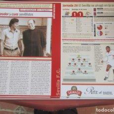 Coleccionismo deportivo: SEVILLA F. C. - AÑORANZAS - FICHA JORNADA 20 - REAL SOCIEDAD - SEVILLA F.C. - TEMPORADA 1999-2000.. Lote 206203126