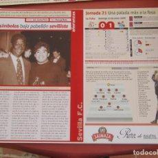 Coleccionismo deportivo: SEVILLA F. C. - AÑORANZAS - FICHA JORNADA 21 - SEVILLA F.C.-CELTA DE VIGO - TEMPORADA 1999-2000.. Lote 206203286