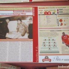 Coleccionismo deportivo: SEVILLA F. C. - AÑORANZAS - FICHA JORNADA 23 - SEVILLA F.C.-RACING D SANTADER - TEMPORADA 1999-2000.. Lote 206203568