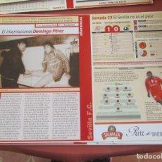 Coleccionismo deportivo: SEVILLA F. C. - AÑORANZAS - FICHA JORNADA 23 -SEVILLA F.C.-RACING D SANTANDER - TEMPORADA 1999-2000.. Lote 206203755