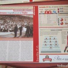 Coleccionismo deportivo: SEVILLA F. C. - AÑORANZAS - FICHA JORNADA 25 - SEVILLA F.C. -ALAVÉS - TEMPORADA 1999-2000.. Lote 206204142