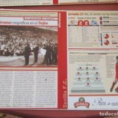 Coleccionismo deportivo: SEVILLA F. C. - AÑORANZAS - FICHA JORNADA 25 - SEVILLA F.C.-ALAVÉS- TEMPORADA 1999-2000.. Lote 206204231