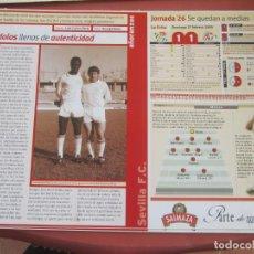 Coleccionismo deportivo: SEVILLA F. C. - AÑORANZAS - FICHA JORNADA 26 - REAL BETIS-SEVILLA F.C. - TEMPORADA 1999-2000.. Lote 206204370
