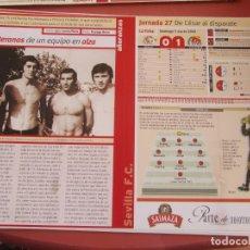 Coleccionismo deportivo: SEVILLA F. C. - AÑORANZAS - FICHA JORNADA 27 - SEVILLA F.C.-VALLADOLID - TEMPORADA 1999-2000.. Lote 206204600