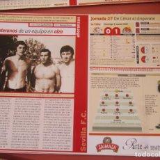 Coleccionismo deportivo: SEVILLA F. C. - AÑORANZAS - FICHA JORNADA 27 - SEVILLA F.C. -VALLADOLID - TEMPORADA 1999-2000.. Lote 206204695