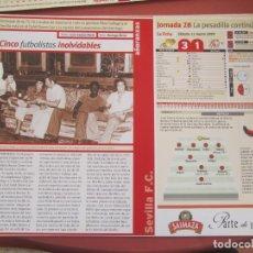 Coleccionismo deportivo: SEVILLA F. C. - AÑORANZAS - FICHA JORNADA 28 - REAL MADRID-SEVILLA F.C. - TEMPORADA 1999-2000.. Lote 206204942