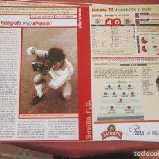 Coleccionismo deportivo: SEVILLA F. C. - AÑORANZAS - FICHA JORNADA 29 - SEVILLA F.C. -NUMANCIA - TEMPORADA 1999-2000.. Lote 206205071